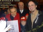 Caricatura Cardinale Caffarra. SCUOLA VITA. Aula magna Santa Lucia febbraio 2010