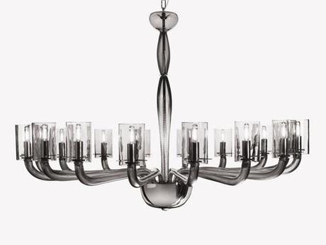 Traditional chandelier glass chrome halogen natural by