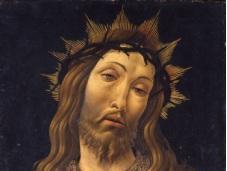 Botticelli scoperta della Mater dolorosa. Redentore benedicente dittico. prova fotografia 1913 ritrovata all'Eremitage Pietroburgo