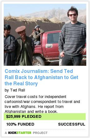 IL CROWDFUNDING FA CENTRO: TED RALL TORNERÀ IN AFGHANISTAN