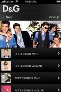 "Nuova applicazione""D&G; Fashion Channel"" per iPhone, iPad e iPod"