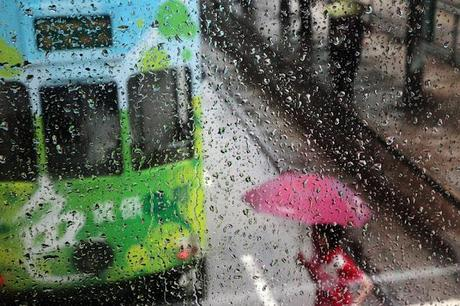 Hong Kong in the Rain by Christophe Jacrot