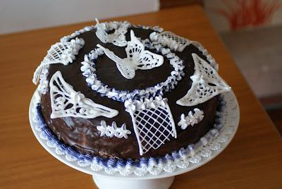 Torta decorata con royal icing