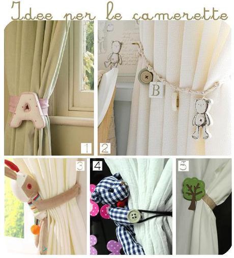 18 idee originali per creare i vostri fermatenda paperblog - Tende per camera bimbo ...