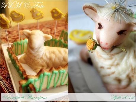Pecorella di marzapane ripiena al pistacchio