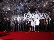 foto carpet della premiere Avengers Angeles