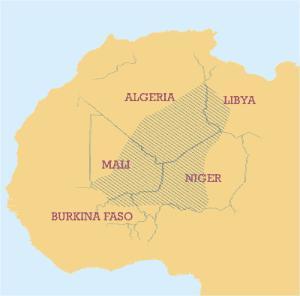 Area abitata dai Tuareg