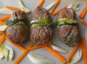 Involtini carne frittatina, ricotta spinaci