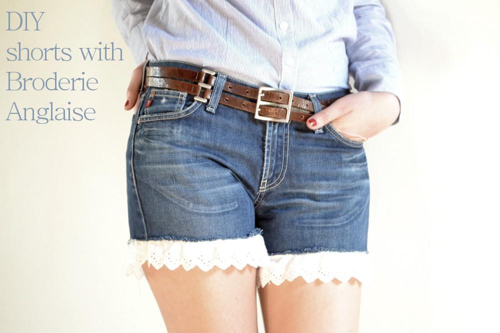Как из джинсов сделать шорты женские