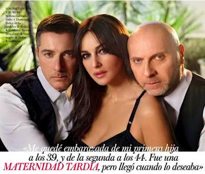 Domenico Dolce, Stefano Gabbana e Monica Bellucci su Vogue Spain