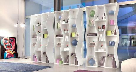 Libreria design modulare ONDA design Angelo Tomaiuolo by Tonin CASA