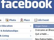 Organ Donor: novità Facebook