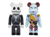 Medicom Nightmare Before Christmas Jack Skellington Sally Bearbrick