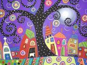 Patterns naif dipinti folk karla gerard