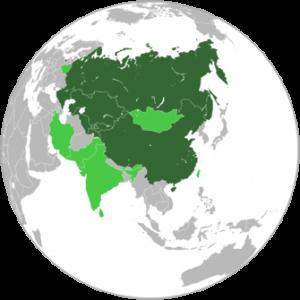 Paesi membri e osservatori dell'Organizzazione per la Cooperazione di Shanghai (OCS)