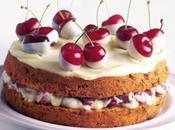 Torta crema ciliegie festa della mamma