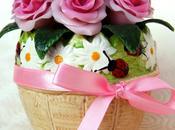 Vasetto pasta mais maize dough roses vase
