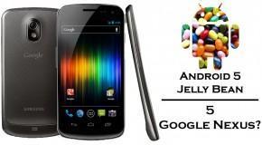 5 Google Nexus con Android 5 Jelly Bean? - Logo