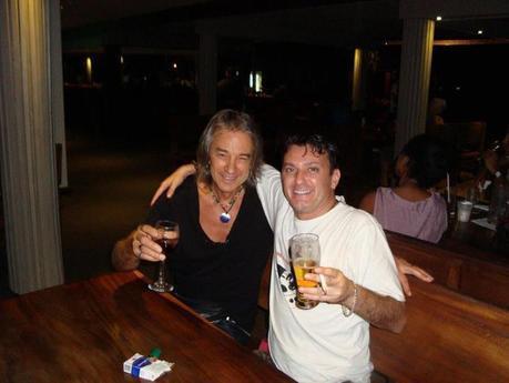 Io e Kevin Borich alla serata finale del Fiji Jazz and Blues Festival 2012