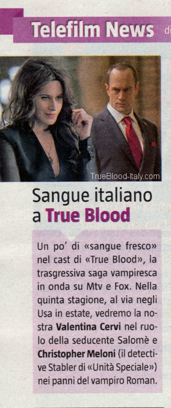 Salomè di True Blood su Tv Sorrisi e Canzoni
