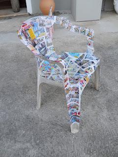 Come rivestire una sedia in ecopelle sanotint light - Tappezzare una sedia ...