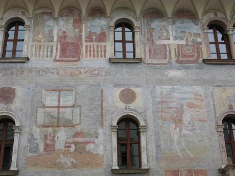 Frescoed Trento - an ancient and colored town in the East Alps