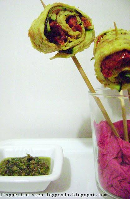 Frittata finger food - Lollipop style