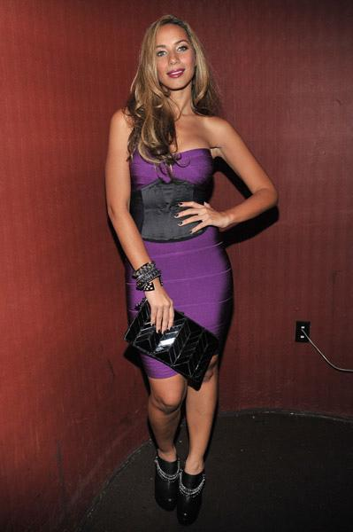 Leona-Lewis-Purple-Corset-Dress