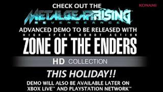Metal Gear Rising : una versione demo sarà inclusa nella ZOE Collection