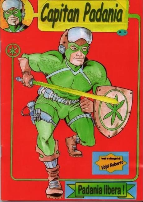 Capitan Padania, il supereroe padano, un reperto fantastico!