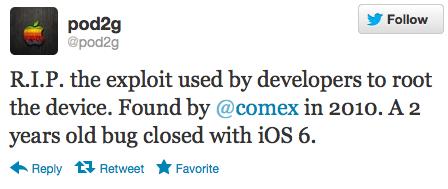 Apple chiude dopo due anni un Exploit con l'introduzione di iOS 6