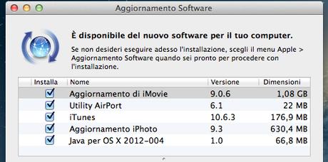 Apple rilascia Java per OS X  aggiornamento 2012-0004
