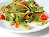 Pappardelle integrali pesto spinacini salmone vapore: piatto unico? butto!