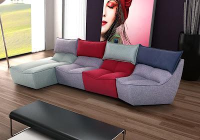 Temporary house paperblog - Divani componibili colorati ...