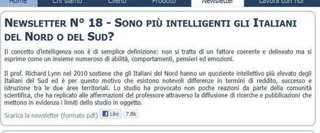 Gli Italiani del Nord sono più intelligenti: Borghezio? No Richard Lynn