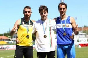 Michele Tricca medaglia d'oro ai Campionati Italiani 2012 Under20 - Foto FIDAL PIEMONTE