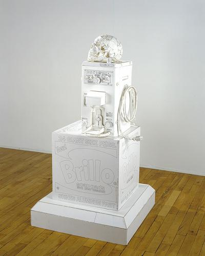 Tom Sachs, Vanity, 1999 foamcore, polycarbonate, ink and hot glue 118 x 63 x 54 cm, Photo stmoritzartmasters com