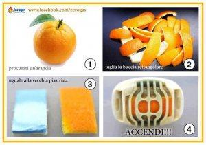 Bucce di arancia o limone per scacciare le zanzare