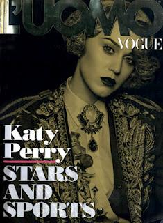 Kety Perry in Dolce & Gabbana su L'Uomo Vogue