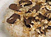 Risotto champagne tartufo fiocchi briciole d'oro