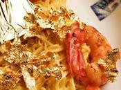 Spaghetti agli scampi fiocchi d'oro