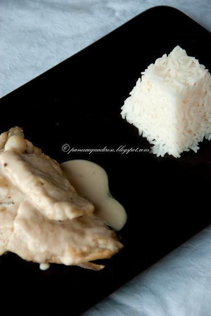 Scaloppina di branzino al cocco e citronella (Escalope of sea-bass with coconut and lemongrass)