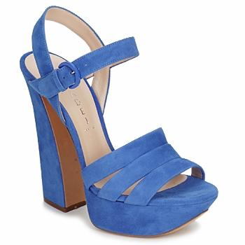Scarpe Blu Tacco Grosso
