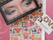 FRONT COVER: rainbow colours palette. Swatches