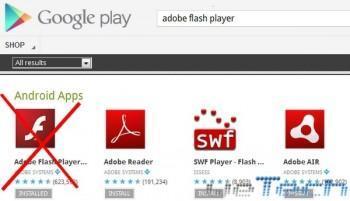 Android 4.1 Jelly Bean non dispone del Flash Player