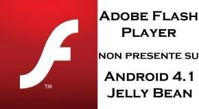 Niente Flash Player per Android 4.1 - Logo