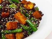 ricette Alice, Insalata riso Venere, asparagi tempeh alla curcuma curry