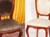 Restauro tappezzeria sedie antiche vecchie... before after
