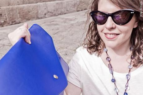 Oasàp online shop: my oversized clutch bag in deep blue