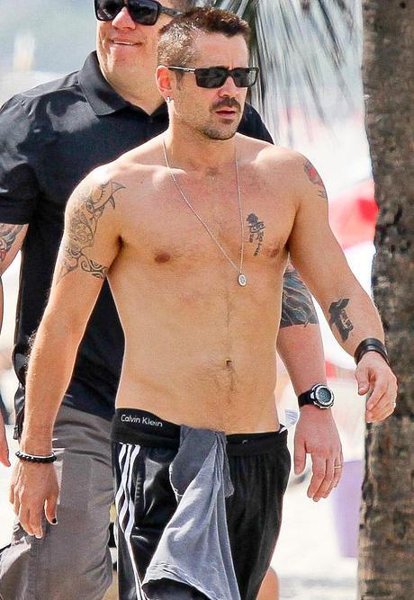 Un sexy Colin Farrell ...